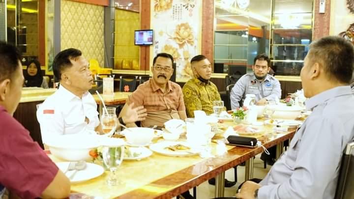 Foto Wakil Bupati Kepulauan Meranti AKBP (Purn) H. Asmar, saat mengikuti kegiatan Audiensi tentang P4GN Pencegahan Pemberantasan Penyalahgunaan Peredaran Gelap Narkotika dengan BNN Pelalawan