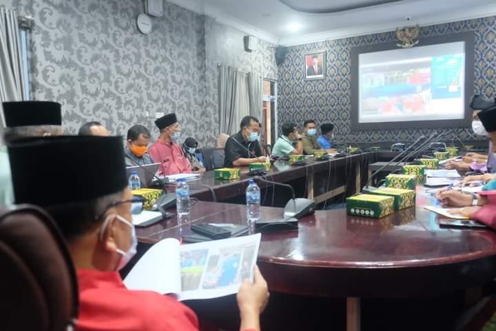 Wakil Bupati Kepulauan Meranti AKBP (Purn) H. Asmar didampingi Sekretaris Daerah Dr. H. Kamsol MM Saat Rakor bersama BNPB RI