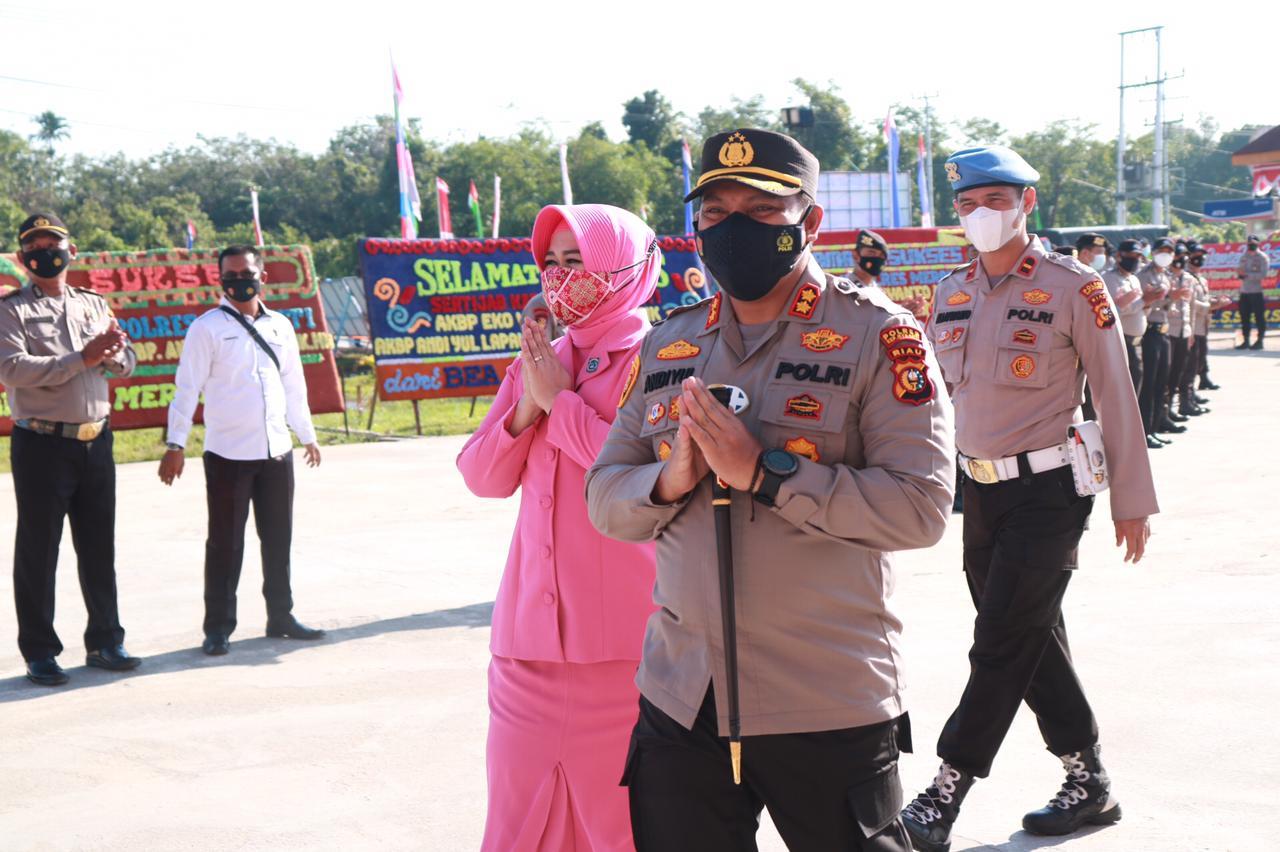 Foto acara pisah sambut Kapolres Kabupaten kepulauan Meranti.
