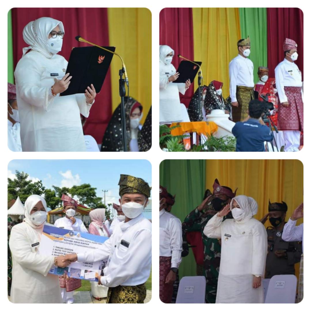 Dalam Rangkaian Peringatan Hari Jadi Provinsi Kepulauan Wagub Marlin Diamanahkan Untuk Membaca Visi Misi