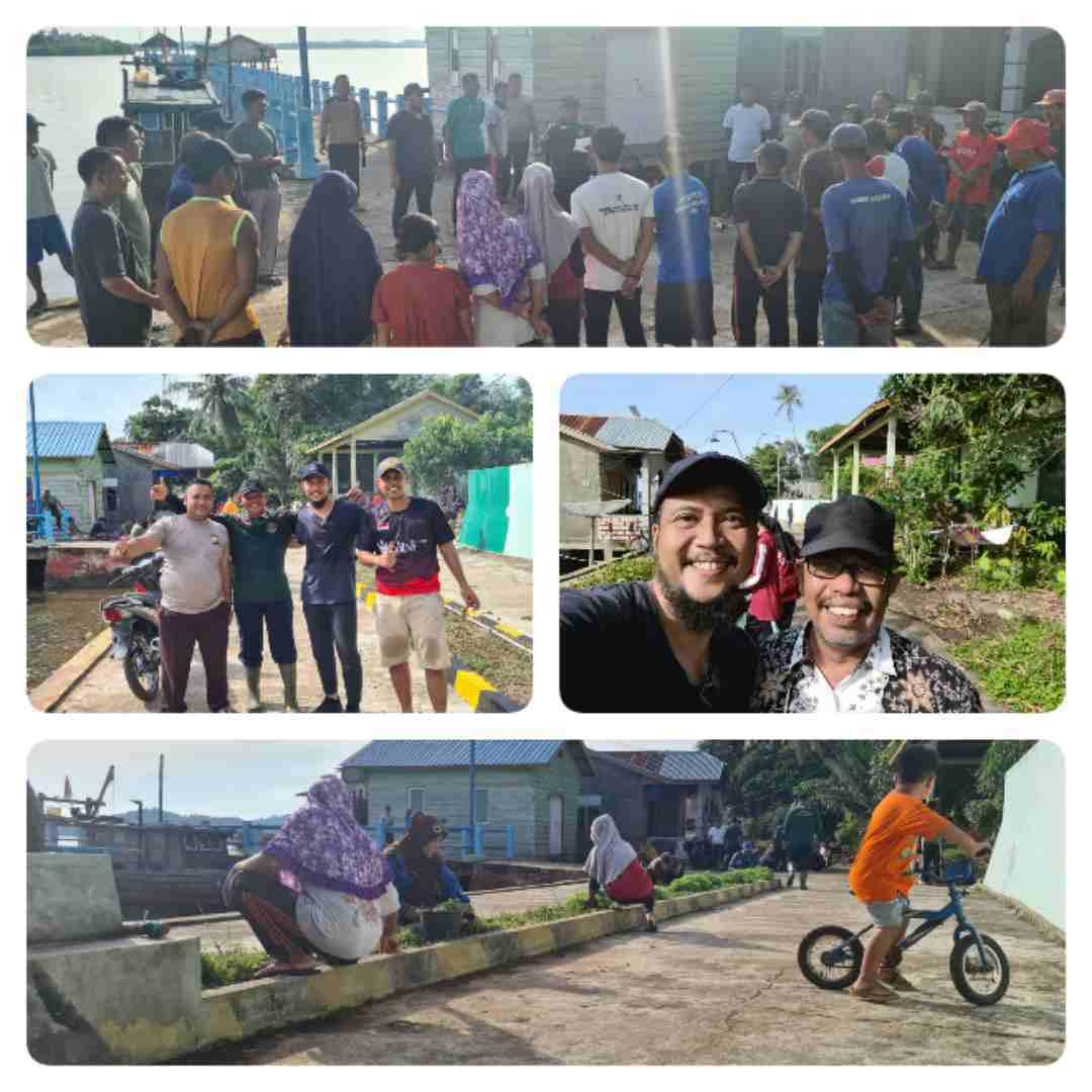 Rangkaian Persiapan Dan Kegiatan Goro Di Pelabuhan Desa Rejai Kecamatan Bakung Serumpun Lingga