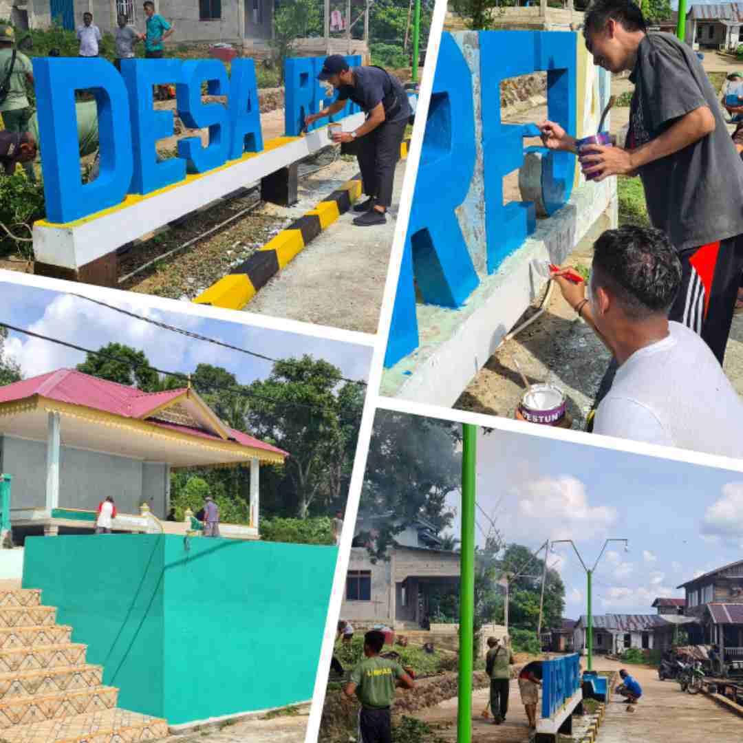 Rangkaian Kegiatan Goro Di Pelabuhan Desa Rejai Kecamatan Bakung Serumpun