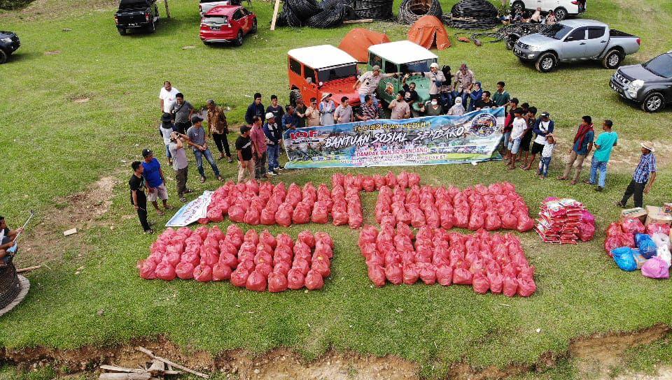 Foto TLCI #2 Riau saat Droping Bansos.
