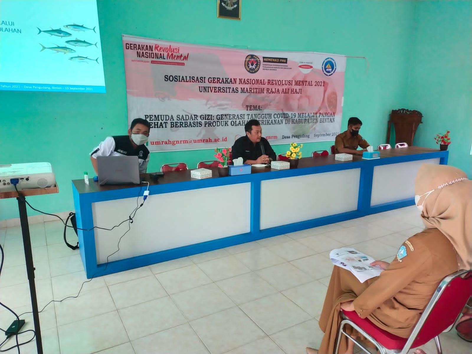 Pemaparan Oleh Rektor UMRAH,Prof. Dr. Agung Dhamar Syakti, S.Pi DEA