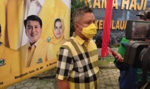 H. Teddy Jun Askara.SE., MM Saat Meninjau Vaksinasi Di Asrama Haji Tanjungpinang.