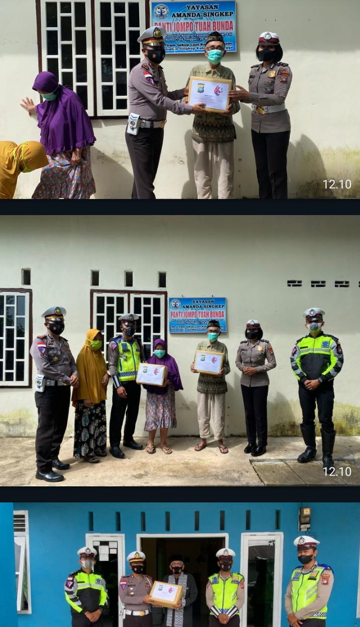 Kegiatan Bakti Sosial Satlantas Polres Lingga Dalam Memperingati HUT Lantas Ke-66 Tahun