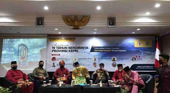 Dialog Interaktif Tentang Pengelolaan Laut Kepri Sempena Hari Jadi Provinsi Kepulauan Riau Ke-19 Tahun.
