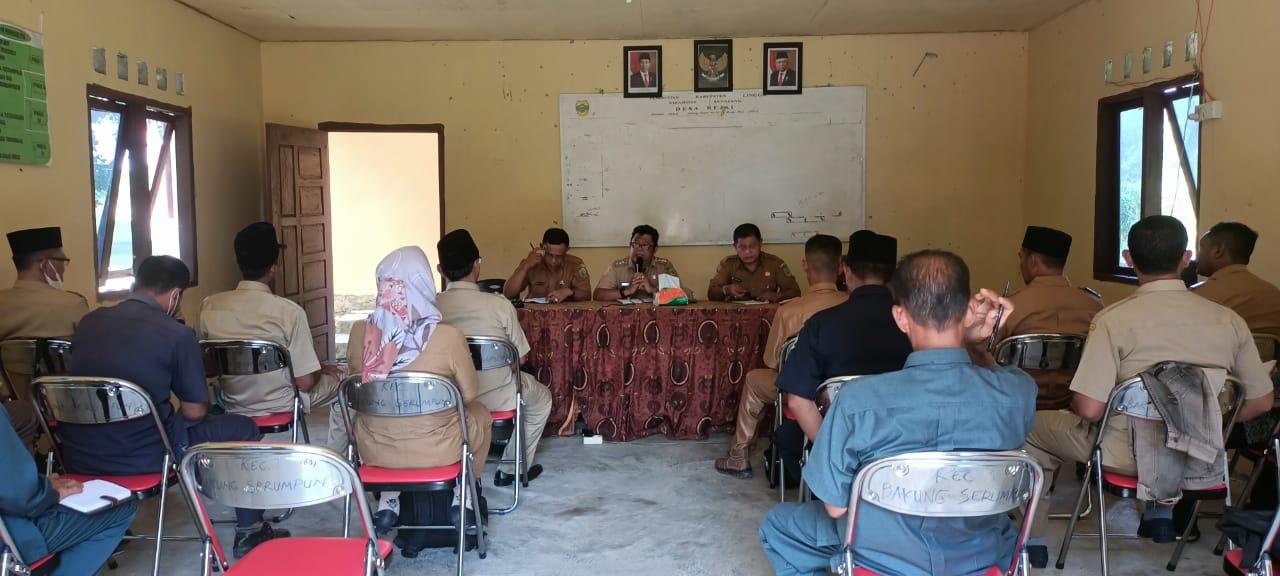 Rapat Koordinasi Pemerintah Kecamatan Bakung Serumpun Bersama Kepala Desa dan BPD Se- Kecamatan Bakung Serumpun Lingga.