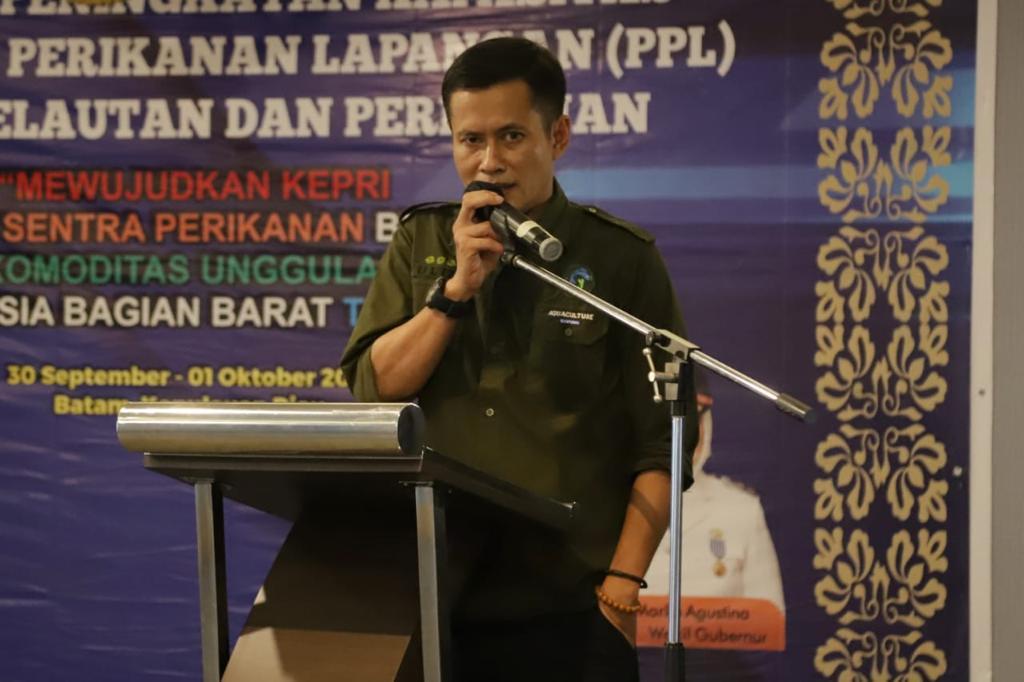 Laporan Kabid Budidaya DKP Kepri, Ulia Fachmi. S.Pi, M.Si Selaku Ketua Panitia Kegiatan.