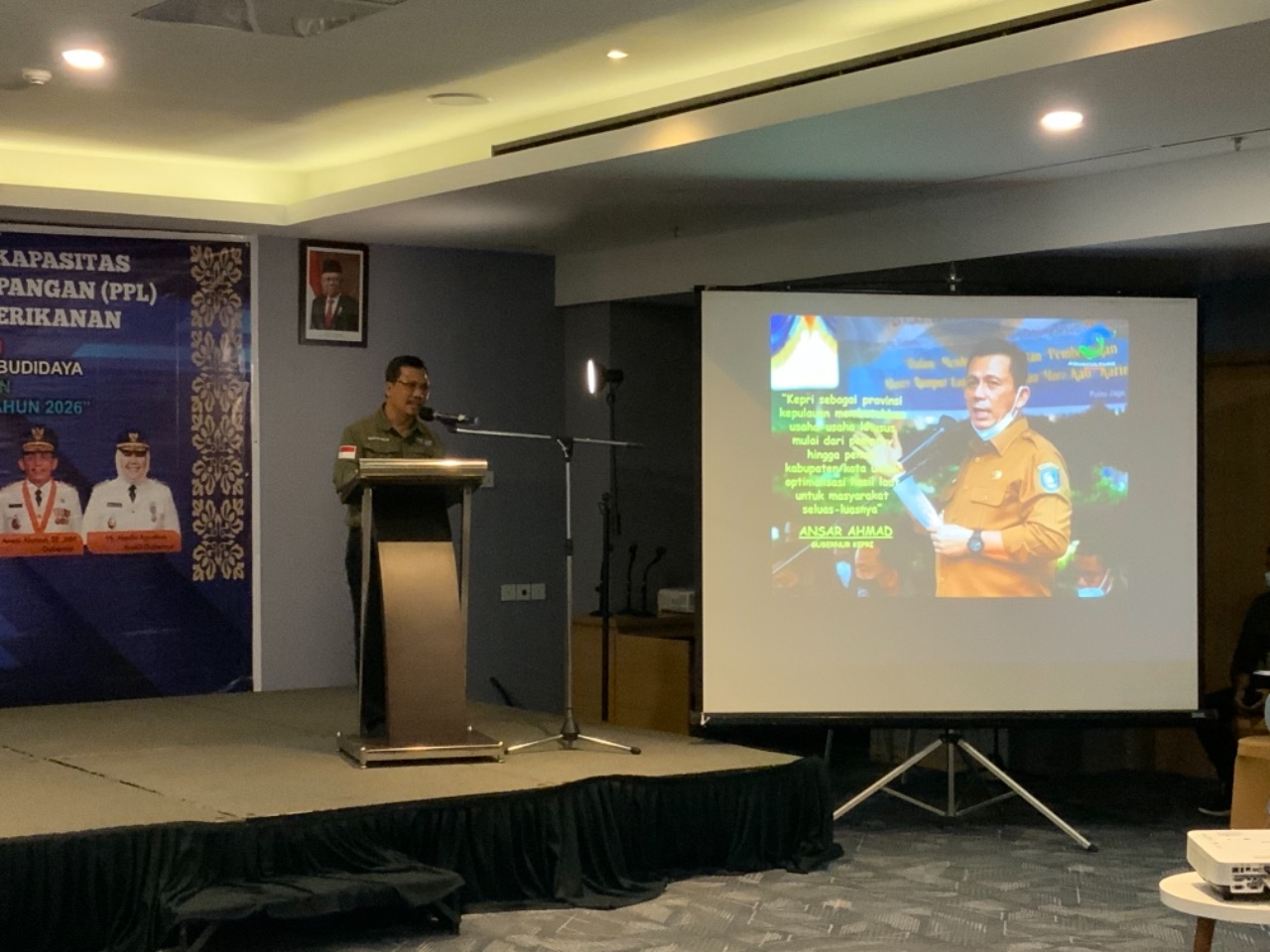 Pembukaan Kegiatan Oleh Kepala DKP Kepri, Dr. H. TS. Arif Fadillah, S.Sos, M.Si