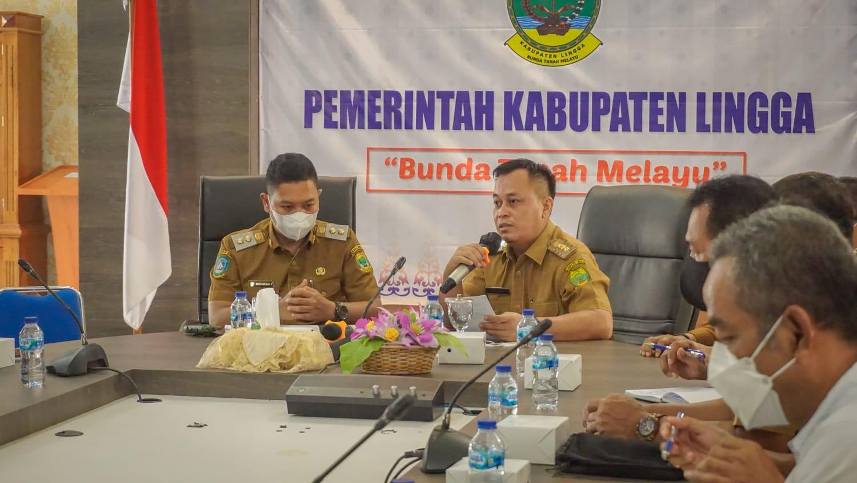 Bupati Lingga M.Nizar Didampingi Wakil Bupati Lingga, Neko Wesha Pawelloy Saat Silaturahmi Dengan Perusahaan Tambang