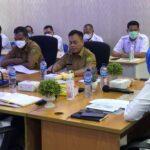 Bupati Lingga, Muhammad Nizar Saat Rapat Koordinasi Bersama Balai Wilayah Sungai (BWS) Sumatera IV di Kantor BWS IV, Batam, Selasa (12/10)