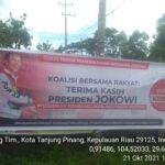 Foto Salah Satu Spanduk Dukungan Ke Jokowidodo Yang Dipasang Di Kota Tanjungpinang Provinsi Kepri