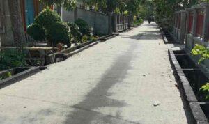 Foto salah satu jalan Di Selatpanjang yang telah selesai Di kerjakan 2 bulan yang lalu namun baru di Anggarkan Di APBD-P 2021.
