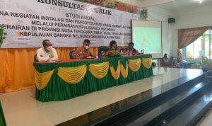 Kegiatan Konsultasi Publik Terkait Pemasangan Kabel Bawah Laut Di Kabupaten Lingga