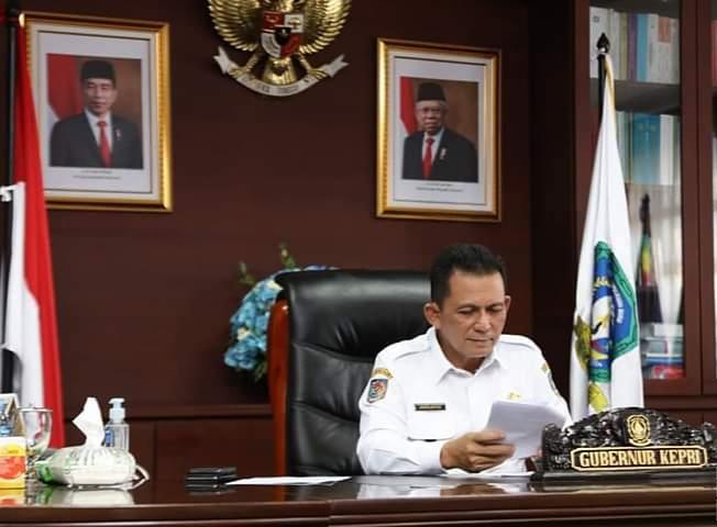 Gubernur Dalam Pidatonya, Provinsi Kepulauan Riau Memiliki Berbagai Potensi Di Bidang Pariwisata Dengan Nilai Jual Yang Tinggi. (foto Humpro)